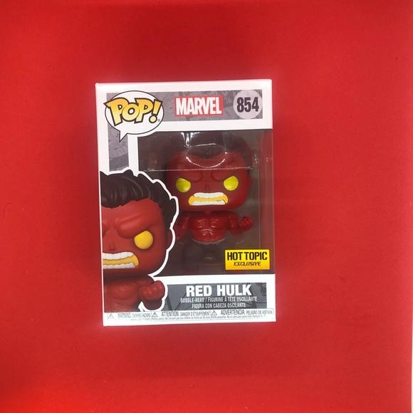 Funko Pop! Marvel: RED HULK. Hot Topic #854